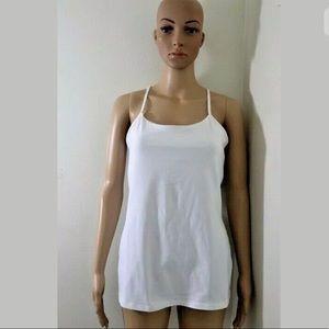 Lululemon Power Y Yoga Tank Top Shirt w/Bra Sz 8